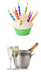 birthday-cake-champagne